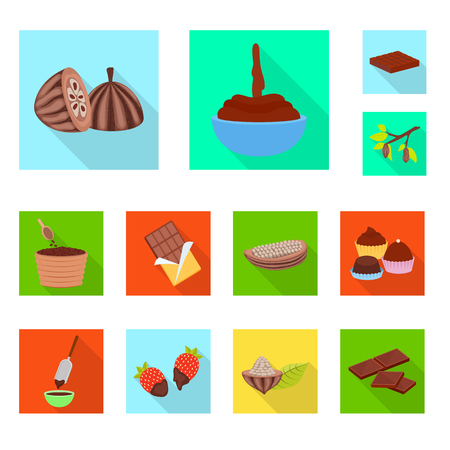 Isolated object of treat and product logo. Set of treat and yummy vector icon for stock.