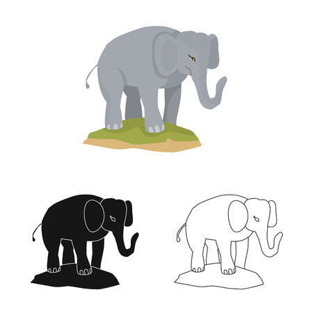 Vector illustration of elephant and cute icon. Collection of elephant and Africa vector icon for stock. Zdjęcie Seryjne - 122902973
