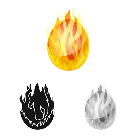 Vector illustration of egg and dragon icon. Collection of egg and fiery stock symbol for web. Banque d'images - 122902974