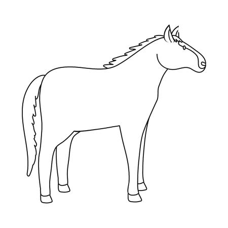 Vector illustration of horse and animal symbol. Set of horse and rearing  stock vector illustration. Illustration