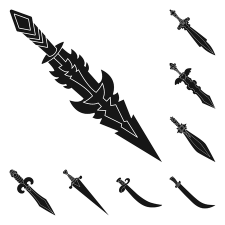 Vector illustration of sharp and blade  icon. Set of sharp and dagger  stock vector illustration.