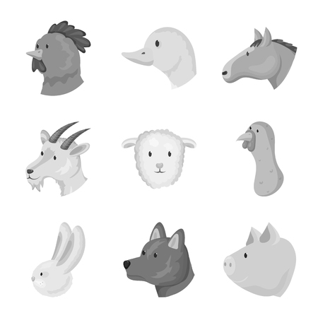 Vector design of countryside and homestead icon. Set of countryside and breeding stock vector illustration.