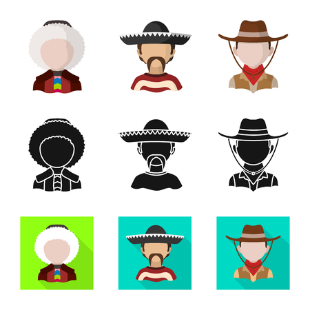 Isolated object of imitator and resident icon. Set of imitator and culture stock symbol for web. Illustration