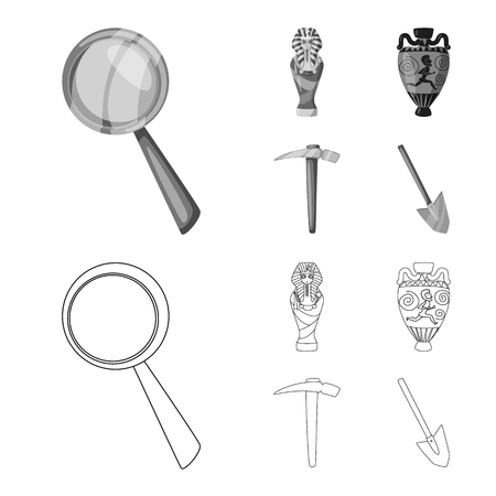 Isolated object of story and items icon. Collection of story and attributes  stock symbol for web. Иллюстрация