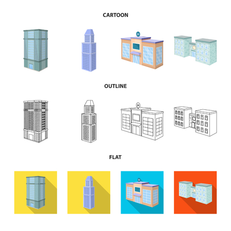 Vector design of construction and building symbol. Collection of construction and estate stock vector illustration. Stock Illustratie