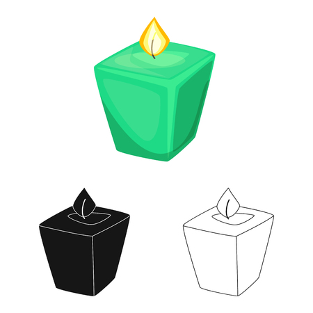Vector design of candle  and aromatic icon. Set of candle  and restaurant  vector icon for stock.