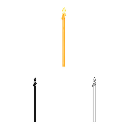 Isolated object of candle and church  icon. Set of candle and lit  stock symbol for web. Фото со стока - 121661860