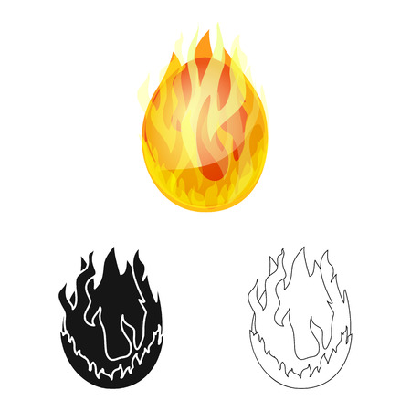 Vector design of egg and dragon logo. Collection of egg and fiery stock symbol for web.