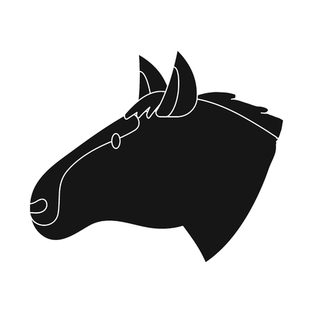 Vector design of horse and face  sign. Collection of horse and pet  stock vector illustration. Archivio Fotografico - 121661871