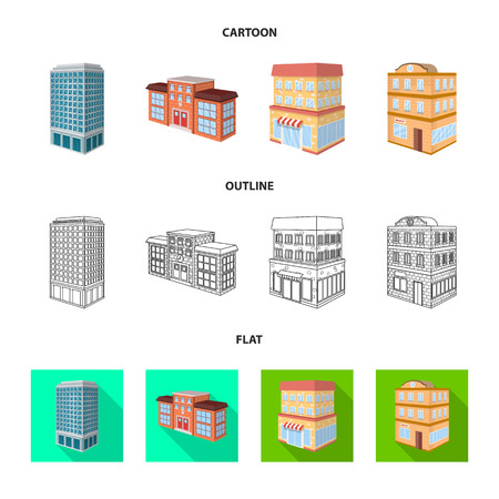 Isolated object of construction and building logo. Collection of construction and estate vector icon for stock.