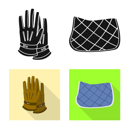 Isolated object of equipment and riding icon. Collection of equipment and competition stock symbol for web.