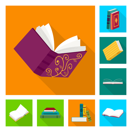 Vector design of illustration and information sign. Set of illustration and cover vector icon for stock.