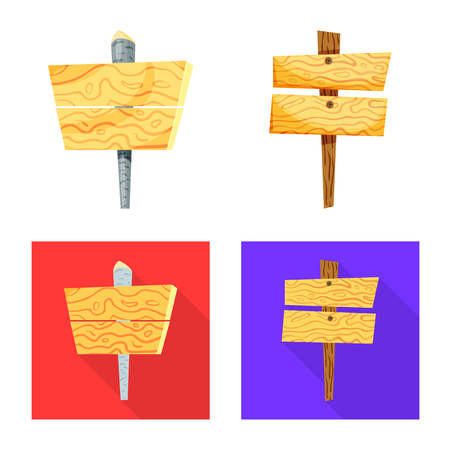 Isolated object of raw  and forest  symbol. Collection of raw  and hardwood vector icon for stock.