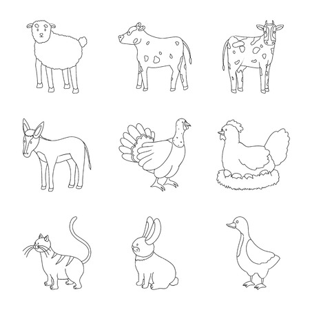 Vector design of homemade and countryside logo. Set of homemade and agriculture vector icon for stock.