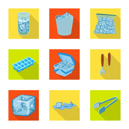 Vector illustration of texture and frozen icon. Collection of texture and transparent stock symbol for web.
