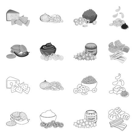 Isolated object of taste and seasonin symbol. Set of taste and organic   stock vector illustration.