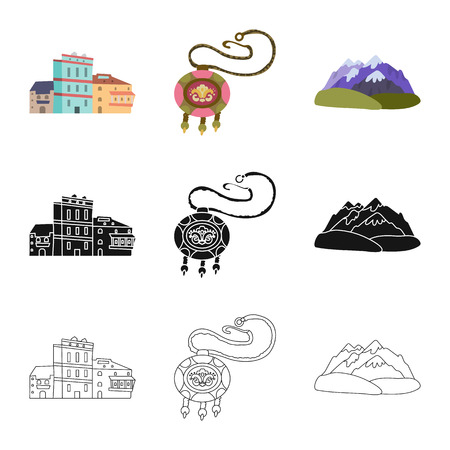 Vector design of culture and sightseeing icon. Set of culture and originality stock symbol for web.