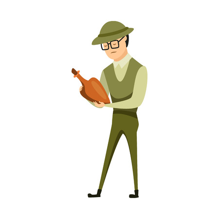 Vector illustration of archaeologist  and human logo. Collection of archaeologist  and seeker  stock symbol for web.