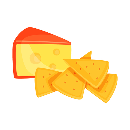 Vector illustration of cracker and appetizer  symbol. Collection of cracker and lactic vector icon for stock.