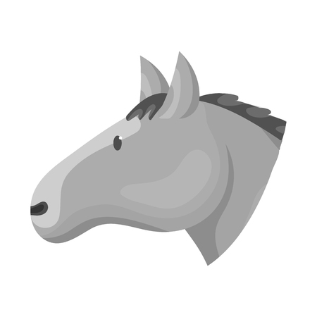 Isolated object of horse and face  icon. Collection of horse and pet  vector icon for stock.