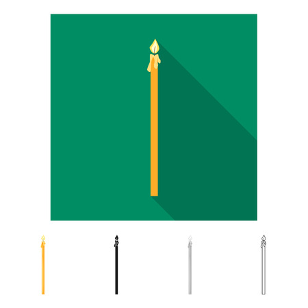 Vector design of candle and church  icon. Collection of candle and lit  vector icon for stock. Illusztráció