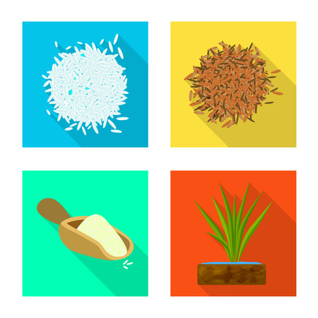 Isolated object of raw and agricultural sign. Collection of raw and ecological stock vector illustration.