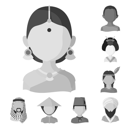 Vector illustration of person and culture. Set of person and race  stock vector illustration. Ilustrace