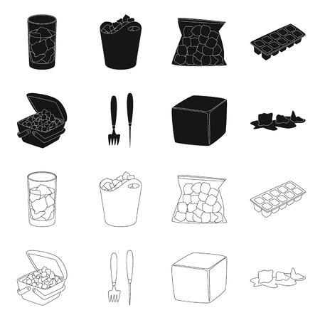 Diseño vectorial de textura y letrero congelado. Colección de textura e icono de vector transparente para stock.