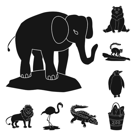 Isolated object of fauna and entertainment sign. Set of fauna and park vector icon for stock. Zdjęcie Seryjne - 122826091