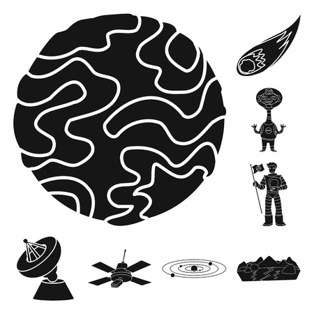 Vector illustration of colonization  and sky icon. Collection of colonization  and galaxy  vector icon for stock. Ilustrace
