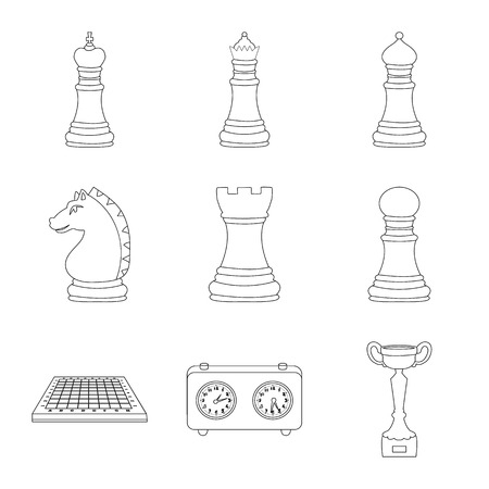 Vector design of piece and strategy logo. Set of piece and play vector icon for stock.