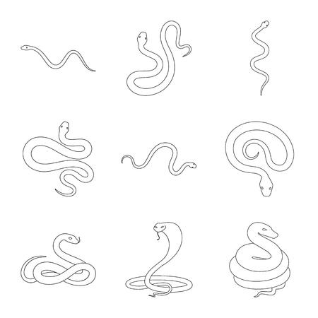 Vektor-Illustration von Gift und bösem Zeichen. Satz von Gift- und Biss-Aktiensymbol für das Web.
