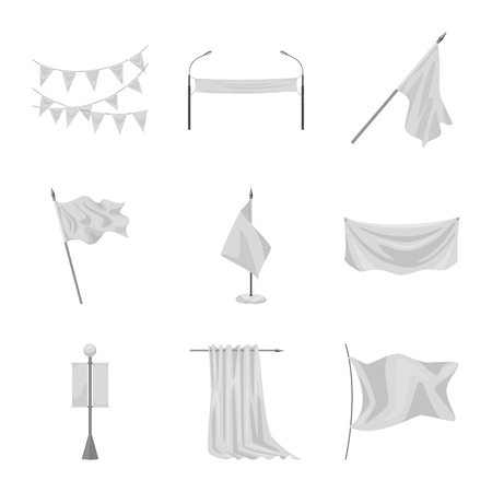 Isolated object of promotional  and textile  icon. Set of promotional  and white  vector icon for stock.