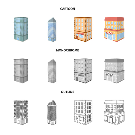 Vector design of construction and building icon. Set of construction and estate stock symbol for web.