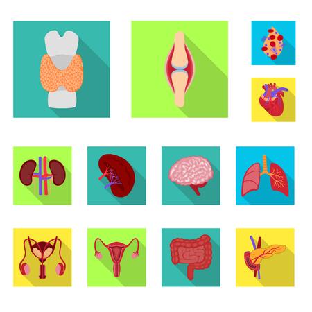 Conception vectorielle de l'homme et de la santé. Collection d'icônes vectorielles humaines et scientifiques pour le stock.