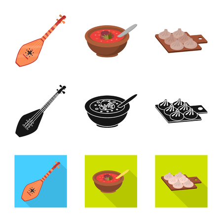 Isolated object of culture and sightseeing symbol. Collection of culture and originality vector icon for stock.