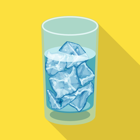Isolated object of ice and glass symbol. Collection of ice and crystal vector icon for stock. Illustration