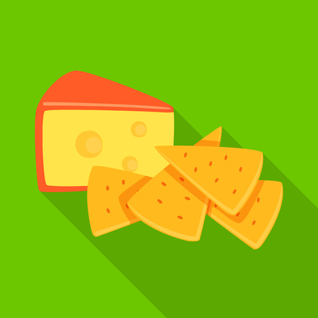 Vector design of cracker and appetizer  sign. Set of cracker and lactic vector icon for stock. Иллюстрация