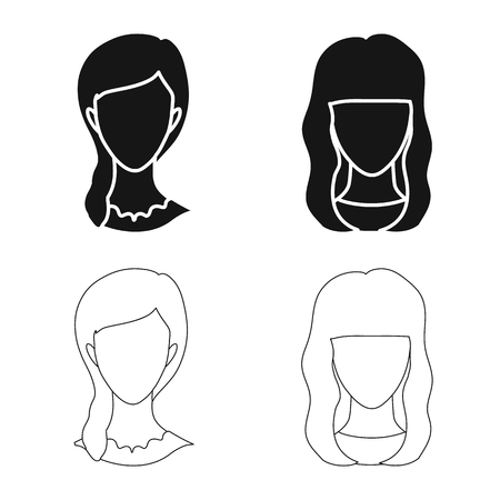 Vector illustration of professional and photo icon. Collection of professional and profile vector icon for stock. 写真素材 - 121789027