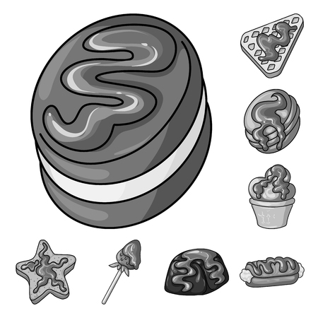 Isolated object of sweet and caramel symbol. Set of sweet and culinary stock vector illustration.