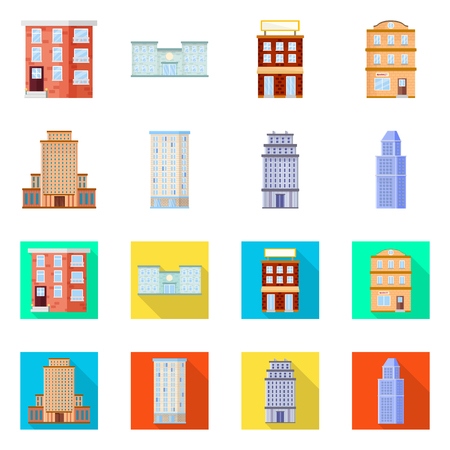 Vector design of municipal and center symbol. Collection of municipal and estate   stock vector illustration.