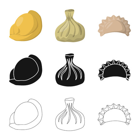 Vector illustration of products  and cooking icon. Collection of products  and appetizer vector icon for stock. Иллюстрация