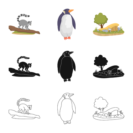 Isolated object of nature  and fun  icon. Set of nature  and entertainment stock vector illustration.  イラスト・ベクター素材