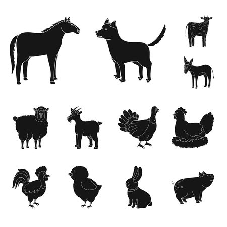 Vector design of ranch  and organic. Set of ranch  and food vector icon for stock.