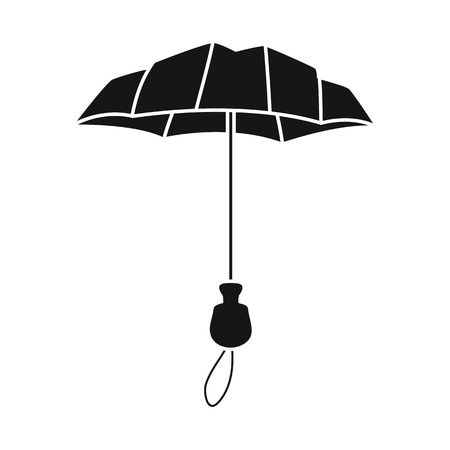 Isolated object of parasol and coverage   symbol. Collection of parasol and classic vector icon for stock.