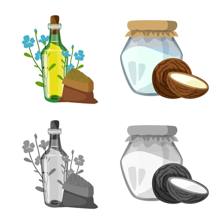 Vector design of healthy  and vegetable  icon. Set of healthy  and agriculture stock vector illustration.