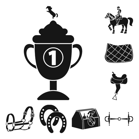 Vector illustration of sport and competition icon. Collection of sport and equestrian stock symbol for web.