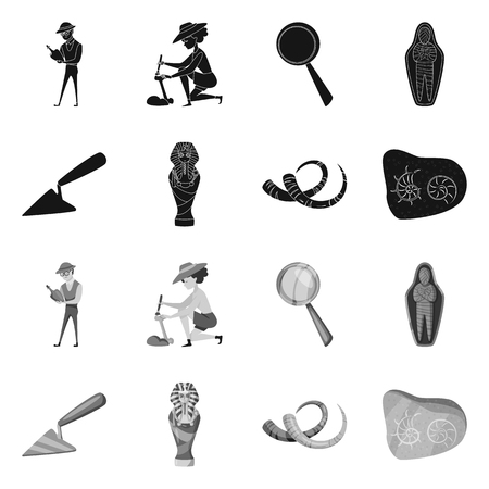 Vector design of story and items icon. Set of story and attributes vector icon for stock. Vettoriali