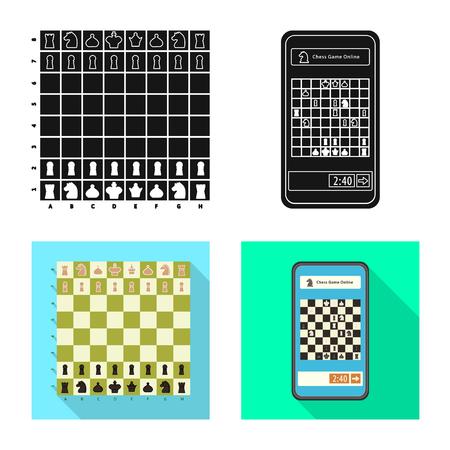 Conception de vecteur de mat et signe mince. Ensemble d'échec et d'icône vectorielle cible pour le stock.