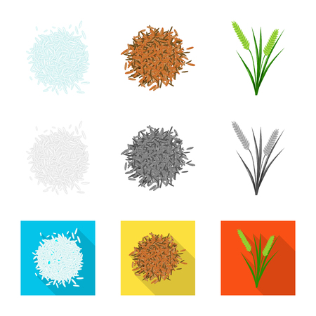 Vector illustration of crop and ecological logo. Set of crop and cooking stock vector illustration.